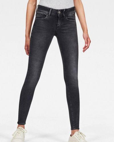 Серые джинсы-скинни узкого кроя G-star