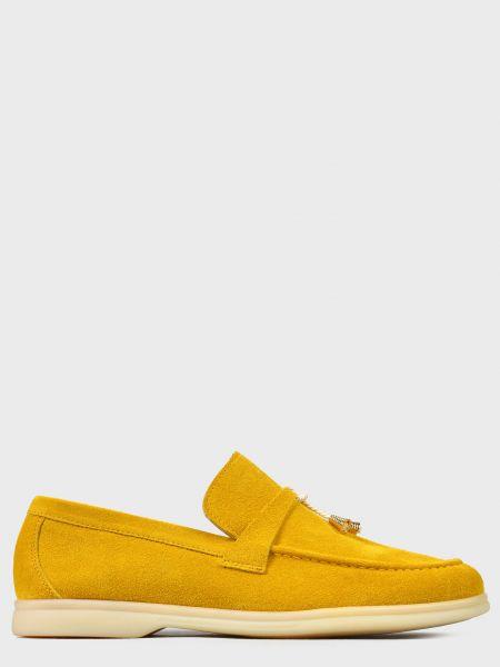 Кожаные лоферы - желтые L'estrosa