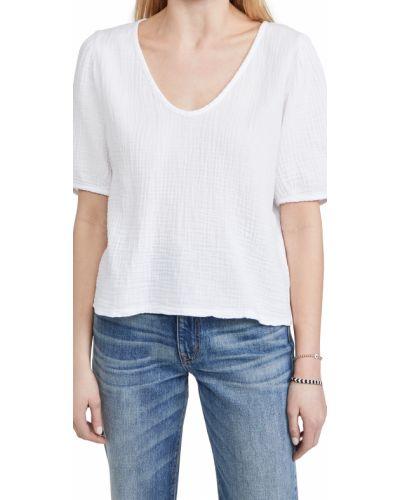 Biała bluzka bawełniana Velvet