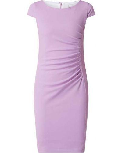 Fioletowa sukienka mini krótki rękaw Paradi