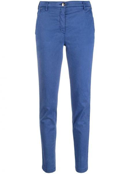 Облегающие синие брюки с карманами Jacob Cohen