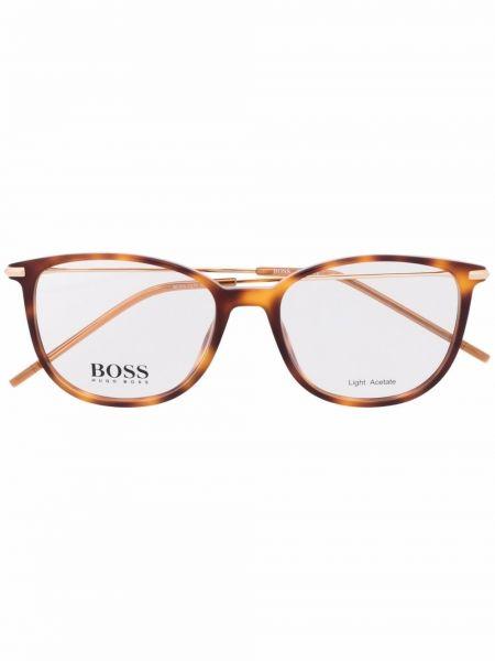 Brązowe złote okulary Boss Hugo Boss