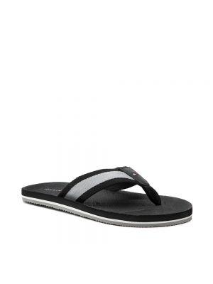 Sandały japonki - czarne Tommy Hilfiger