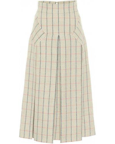 Шерстяная юбка макси свободного кроя с рисунком Emilia Wickstead