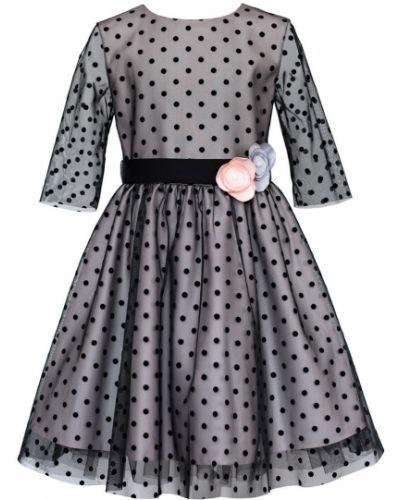 Платье с рукавами черное расклешенное Sly
