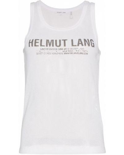 Майка с логотипом белая Helmut Lang