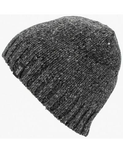 Серая шапка осенняя Jack Wolfskin