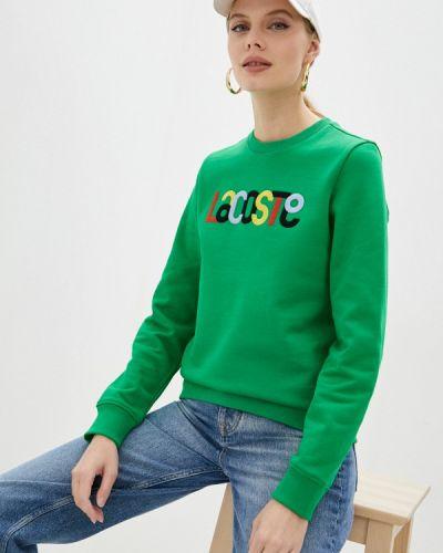 Зеленый зимний свитшот Lacoste