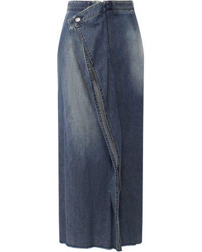 Джинсовая юбка синяя Mm6