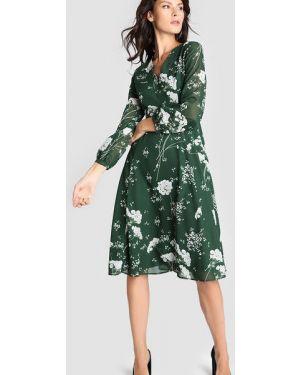 Платье миди с запахом с цветочным принтом Ostin