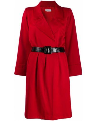 Платье макси винтажная с поясом Yves Saint Laurent Vintage