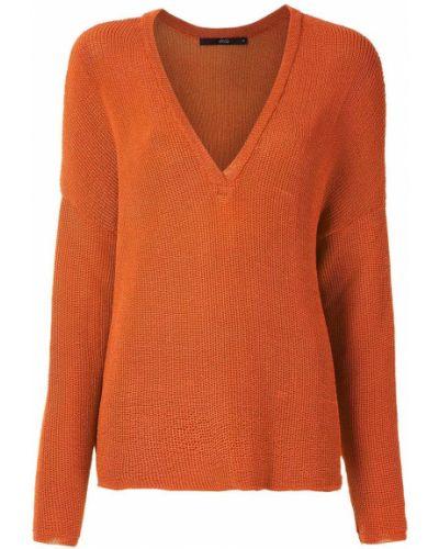 Brązowy prosto z rękawami pulower Eva