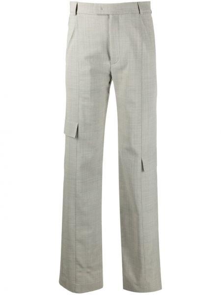 С завышенной талией прямые зеленые брюки карго Ssheena