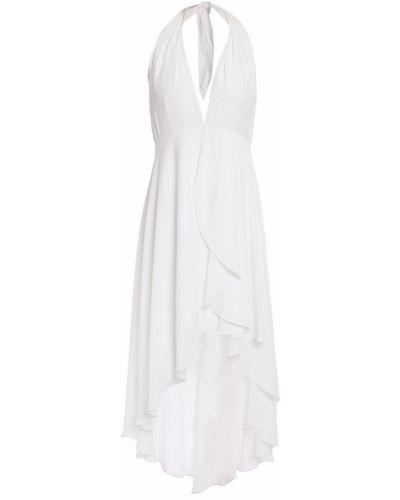 Асимметричное белое платье мини с подкладкой Halston Heritage