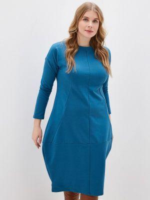 Платье бирюзовый осеннее Tenerezza