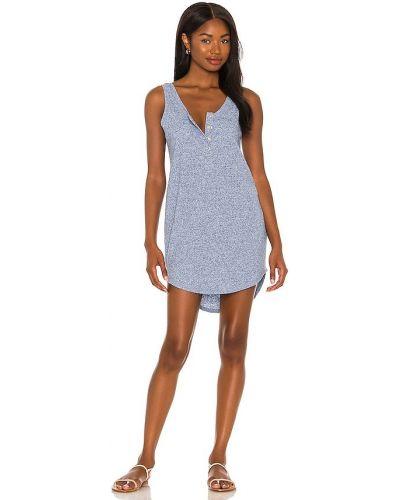 Льняное платье - синее Chaser