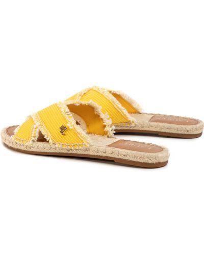 Żółte espadryle Lauren Ralph Lauren