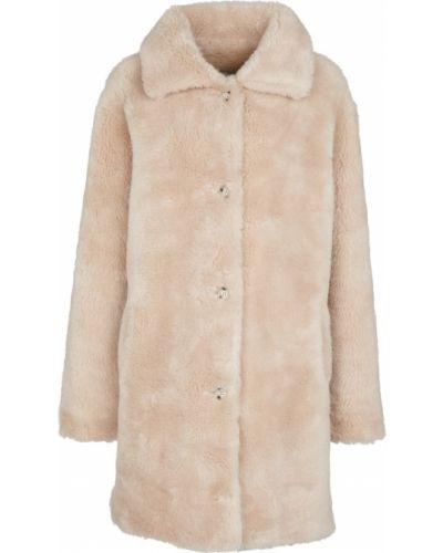 Бежевое пальто на пуговицах Yves Salomon
