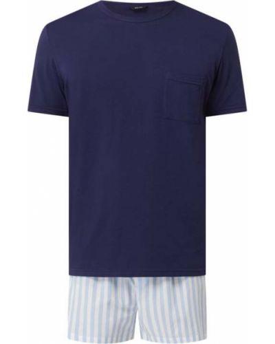 Piżama bawełniana krótki rękaw w paski Hom