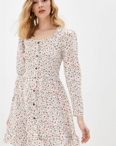 Прямое белое платье А-силуэта Imocean