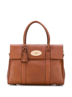 Brązowa torba na ramię skórzana Mulberry