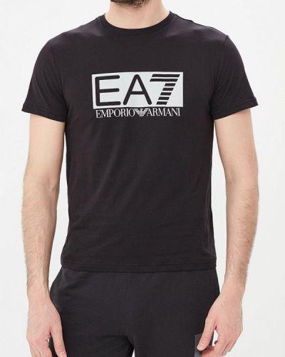 Черная футболка Ea7