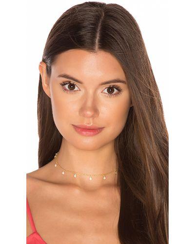 Чокер золотой металлический винтажный Natalie B Jewelry