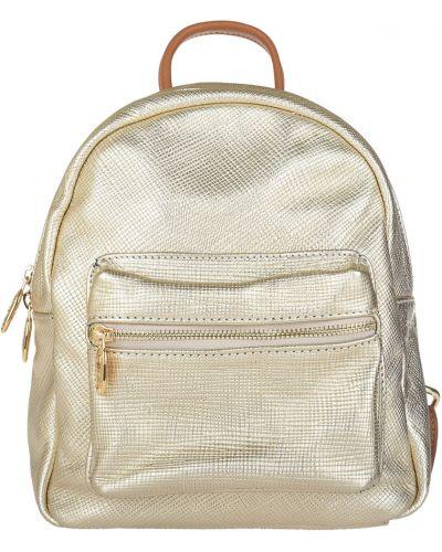 Кожаный рюкзак - золотой Sara Burglar