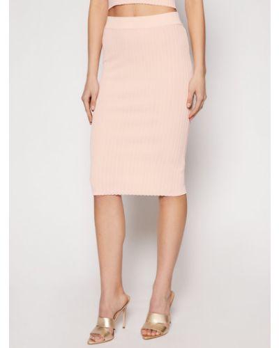 Różowa spódnica ołówkowa Guess