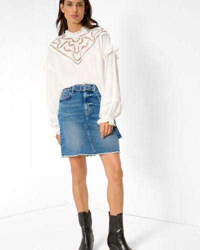 Spódnica jeansowa z paskiem - niebieska Orsay
