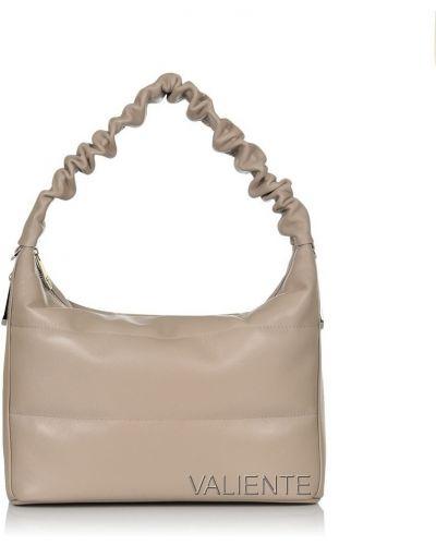 Кожаная сумка - бежевая Valiente