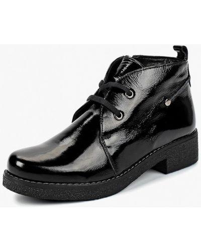 Кожаные ботинки осенние на каблуке Alessio Nesca