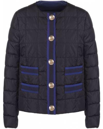 Стеганая куртка на пуговицах с карманами Fay