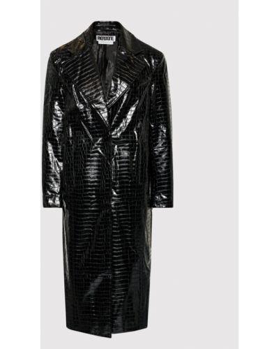 Czarny płaszcz Rotate