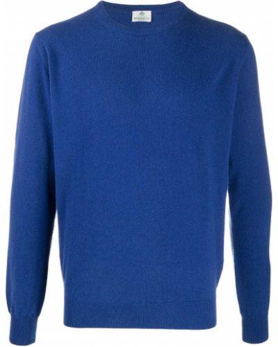 С рукавами шерстяной синий прямой джемпер Borrelli