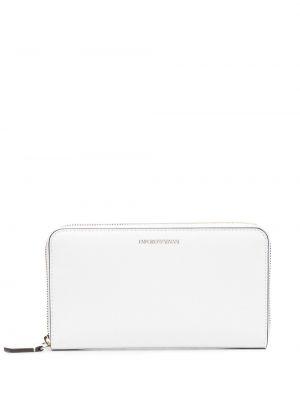 Biały portfel skórzany Emporio Armani