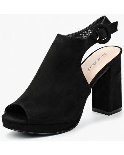Черные босоножки на каблуке Sweet Shoes
