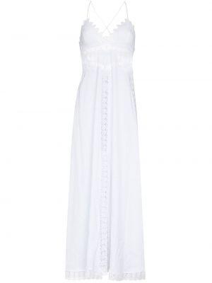 Хлопковое платье миди - белое Charo Ruiz Ibiza
