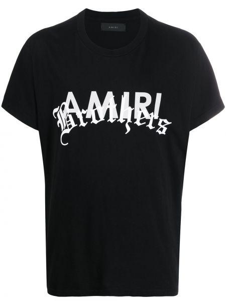 Koszula krótkie z krótkim rękawem z nadrukiem z logo Amiri
