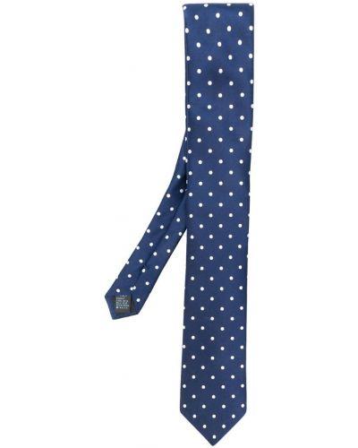 Синий галстук в горошек Dolce & Gabbana