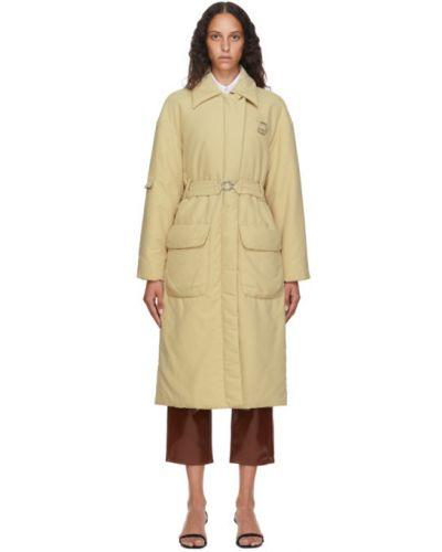 С рукавами утепленное длинное пальто с воротником Tibi