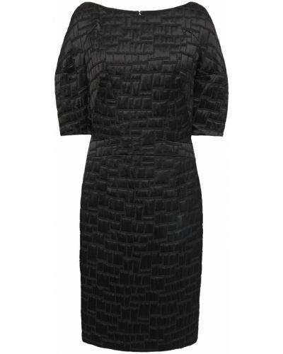 Шелковое черное платье с подкладкой Talbot Runhof