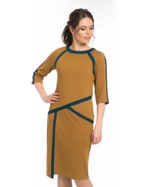 Комбинированное платье со вставками с карманами с рукавом реглан Modellos
