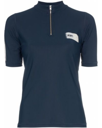 Синяя рубашка с коротким рукавом с лебяжьим пухом с заплатками Rbn X Bjorn Borg