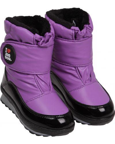 Фиолетовые текстильные сапоги Jog Dog