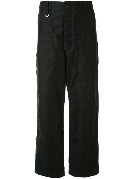 Черные брюки свободного кроя на пуговицах с карманами Sophnet.