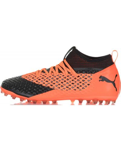 Оранжевые бутсы Puma