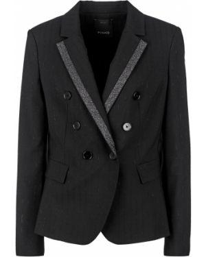 Пиджак черный двубортный Pinko