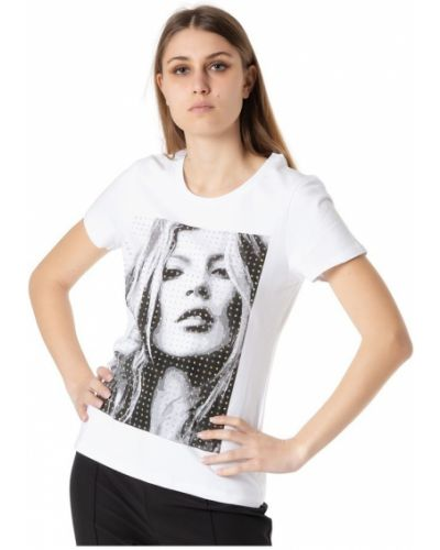 Biały t-shirt Atos Lombardini