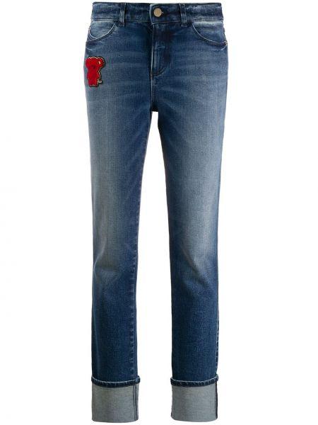 Прямые джинсы с манжетами синие Emporio Armani